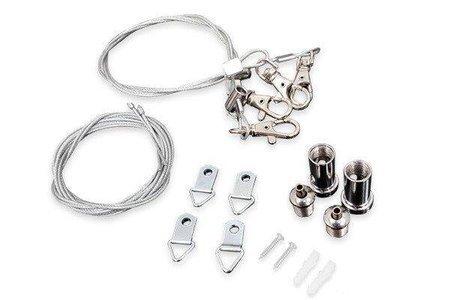 Akcesoria montażowe do paneli LED - stalowe linki z haczykami