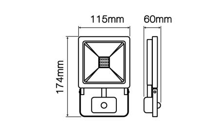 Naświetlacz LED line® PHOTON 20W 1600lm 4000K z czujnikiem ruchu PIR