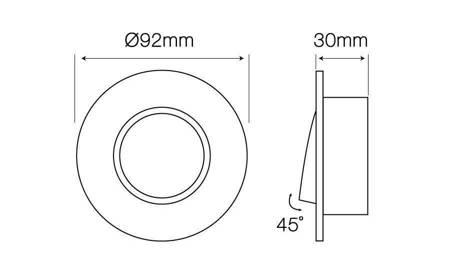 Oprawa MR16 okrągła ruchoma odlew grafit