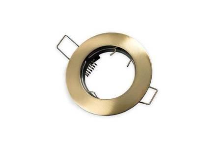 Oprawa halogenowa sufitowa okrągła stała, odlew stopu aliminium  - patyna