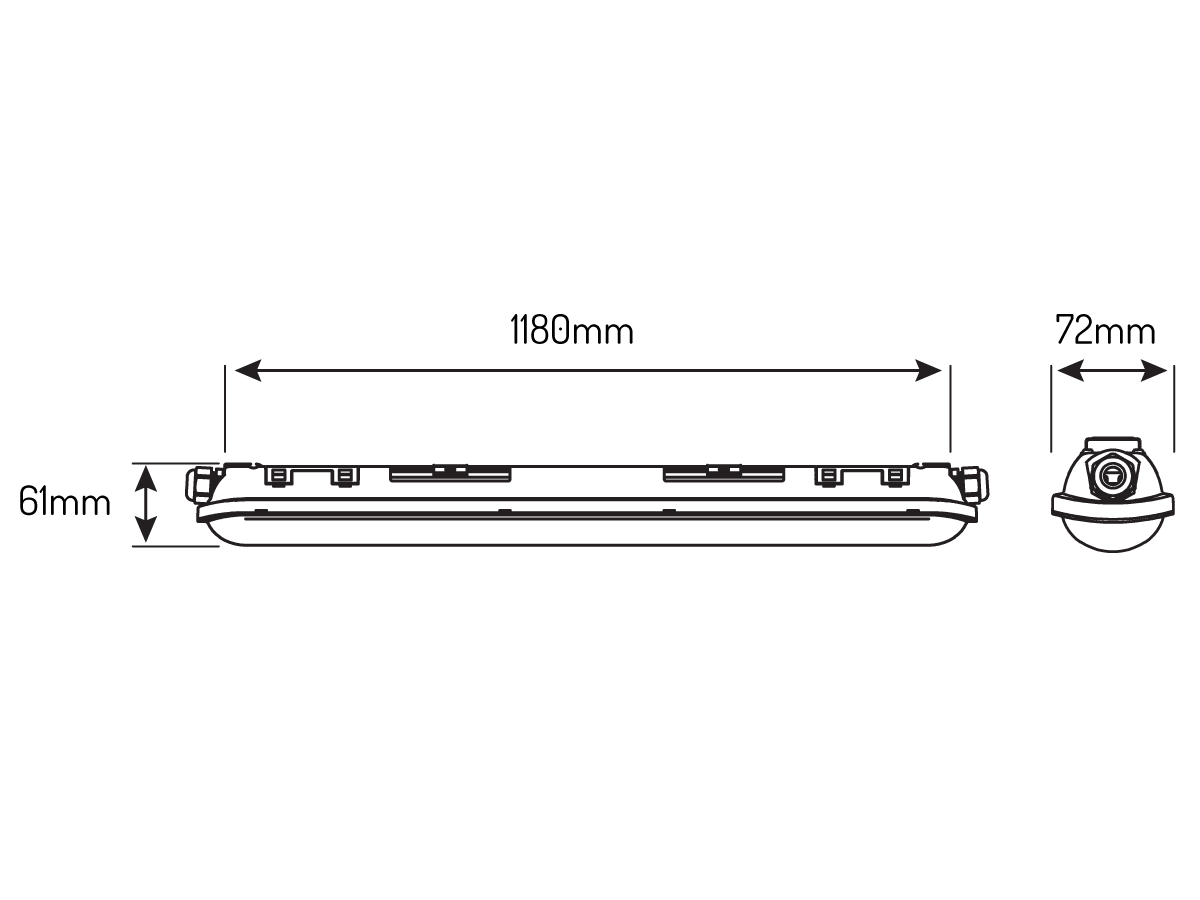 Oprawa hermetyczna liniowa TRI-PROOF 39W 220-240V 4000K LINKER