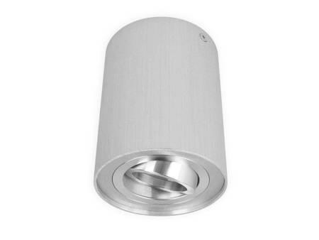 Oprawa natynkowa punktowa okrągła ruchoma srebrny szczotkowany- ROLLO