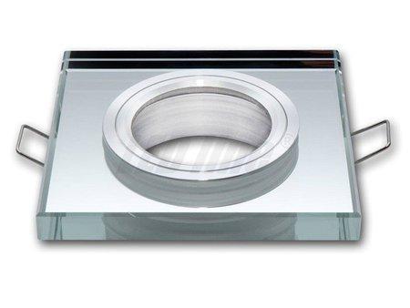 Oprawa sufitowa halogenowa szklana stała do żarówek o średnicy 50mm