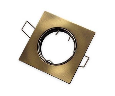 Oprawa sufitowa kwadratowa ruchoma, odlew stopu aluminium - patyna