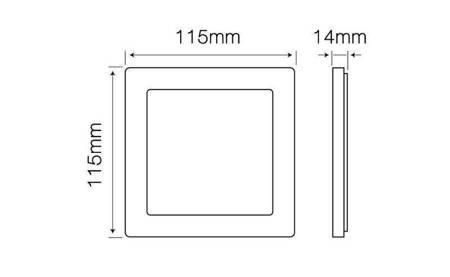 Panel LED line® EasyFix kwadrat 6W 450lm 2700K biała ciepła