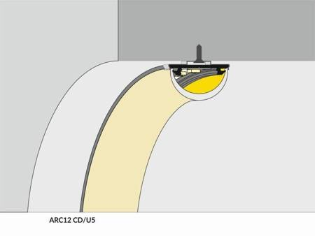 Profil gięty do taśm LED Arc12 CD/U5 anodowany 1 metr