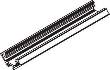 Profil narożny czarny anodowany typ C 1 metr