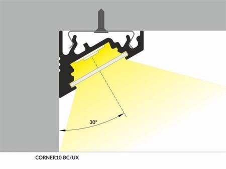 Profil narożny do taśm LED Corner10 BC/UX anodowany 2 metry