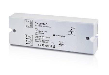 Sunricher odbiornik-ściemniacz do systemu oświetlenia 230V, TRIAC, 2 kanały, seria Easy-RF