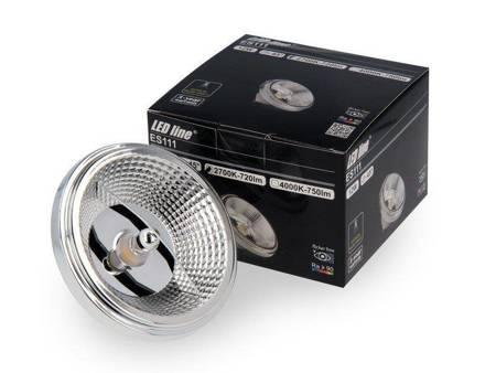Żarówka LED  ES111 GU10 180-265V AC 12W 1080lm 45° biała ciepła 2700K