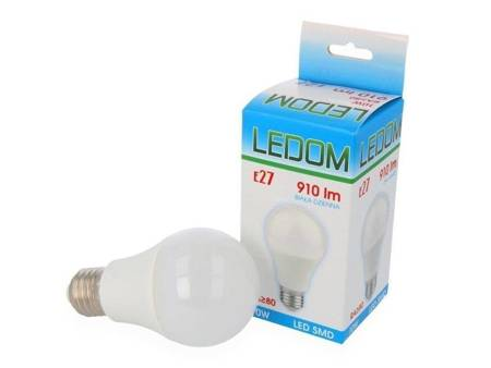 Żarówka LED LEDOM E27 A60 230V 10W 910lm biała dzienna 4000K