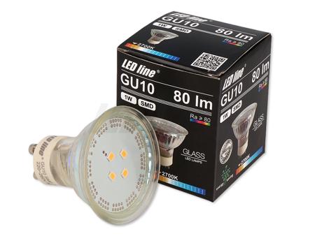 Żarówka LED SMD GU10 1W 220-260V  biała ciepła 2700K