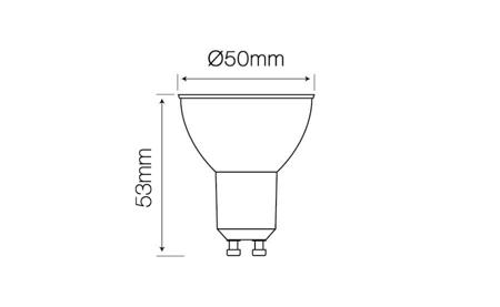 Żarówka LED line GU10 SMD 220-260V 5W 410lm 50° biała zimna 6500K