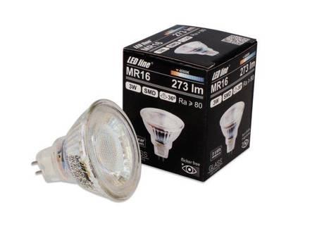Żarówka LED line MR16 SMD 10~14V AC/DC 3W 273lm 36˚ biała dzienna 4000K