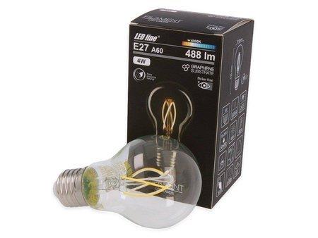 Żarówka LED line® FILAMENT E27 A60 180-265V 4W 488lm 4000K biała dzienna