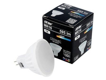 Żarówka LED line® MR16 SMD 10-18V AC/DC 7W 595lm biała dzienna 4000K