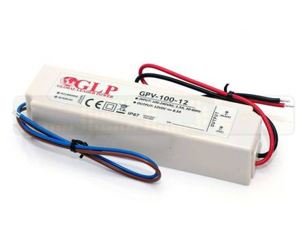 Zasilacz LED GPV-100-12 8,3A 100W 12V, IP67