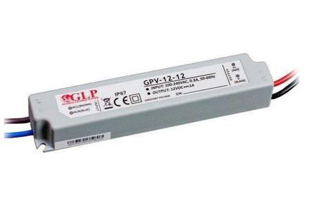 Zasilacz LED GPV-12-12 1A 12W 12V, IP67