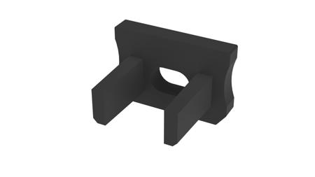 Zaślepka 1 sztuka do profilu SLIM Lumines typ X czarna z otworem