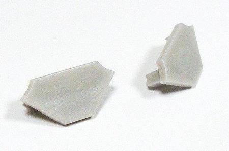 Zaślepka 1 sztuka do profilu narożnego Lumines typ C szara