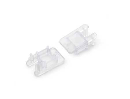 Zaślepka kpl. 2 sztuki transparentna do profili LED na szybę 8mm MIKRO-LINE12