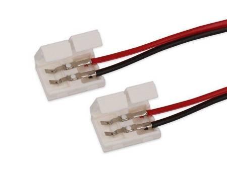 Złączka CLICK podwójna do taśm LED 8mm + przewód  14cm