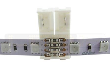 Złączka CLICK podwójna do taśm LED RGB 10mm (do łączenia dwóch taśm bez przewodu)
